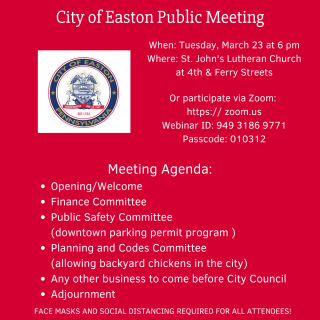 City of Easton Public Meeting