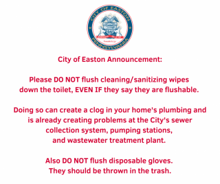 City of Easton Announcement