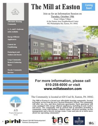 Mill at Easton information session