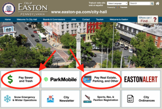 City of Easton online bill payment
