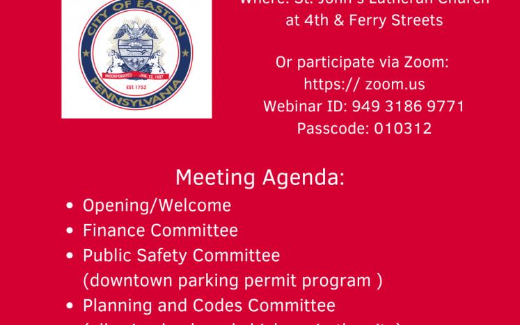 City of Easton Public Meeting