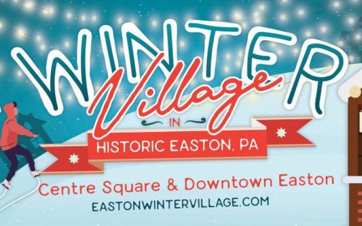The Winter Village in Historic Easton
