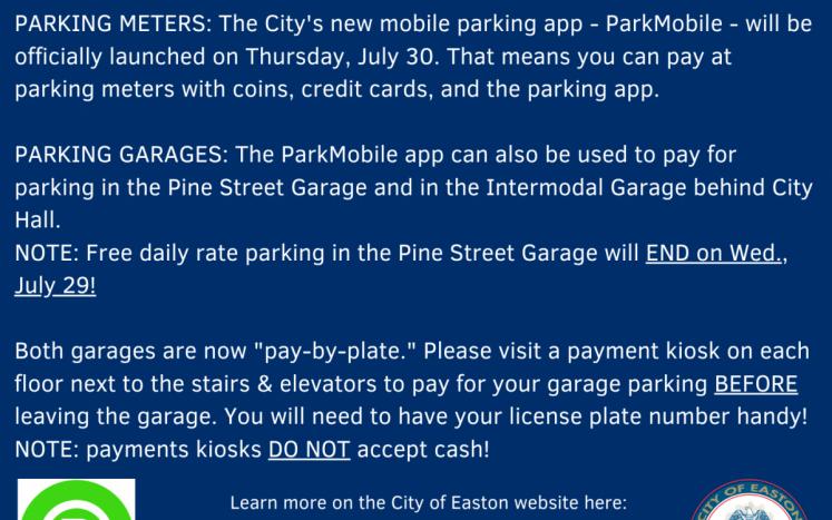 City of Easton Parking Update