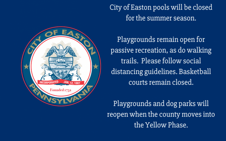 City to Easton Pools to stay closed for summer