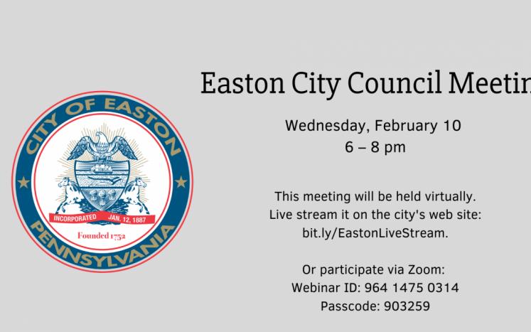 Easton City Council Meeting (Virtual)