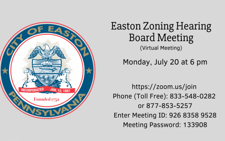July City of Easton Zoning Hearing Board Meeting