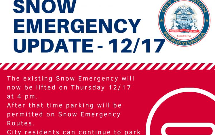 Revised snow emergency
