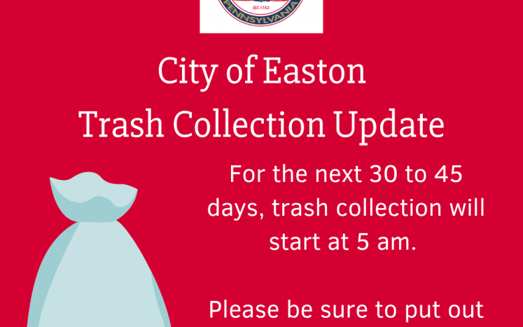 trash collection in city of easton
